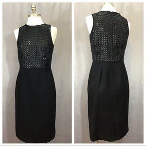 NWOT Banana Republic Wool Sequin Sheath Dress 0